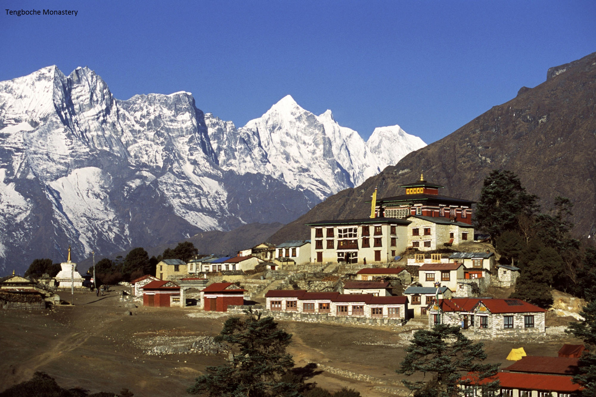 Tengboche monastery in the Solo Khumbu region of Nepal near Mount Everest.